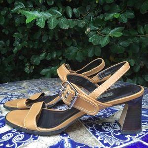 Vintage Strappy Camel Heels • modern minimal chic